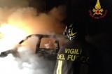 Avellino. Auto in fiamme, intervengono i vigili