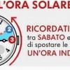 Torna l'ora solare: domenica 29 il cambio delle lancette