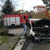 Grottolella – Vigili del Fuoco intervengono per un incendio ad un' autovettura