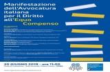 Manifestazione dell'Avvocatura italiana per il diritto all'equo compenso