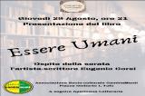 """Tufo – Presentazione del libro """"Essere Umani"""" di Eugenio Corsi"""