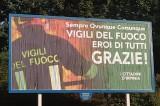 Avellino – Incendio ICS, manifesti in città in favore dei Vigili del Fuoco