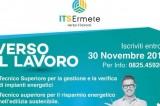 ITS Ermete –  Iscrizioni studenti fino al 30 novembre 2019. Lunedì 11 infopoint presso il Samantha della Porta in collaborazione con l'Agenzia Agorà