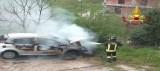 Prata P.U. – Vigili intervengono per veicolo in fiamme