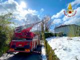 Perturbazione nevosa, interventi dei Vigili del Fuoco sul territorio