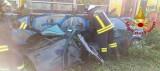 Avella – I Vigili del fuoco al lavoro per un incidente ferroviario