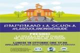"""""""Riapriamo la scuola"""": flash mob dei genitori a Borgo Ferrovia"""