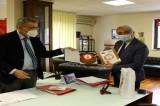 Il Presidente Biancardi in visita al Comando dei Vigili del Fuoco