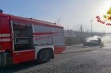 Avellino – Auto in fiamme a contrada Scrofeta