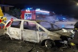 Taurano – In fiamme un'autovettura in sosta