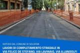 Solofra – Lavori stradali in via F. De Stefano, Via Lavinaio e tratto di Via Agostino Landolfi