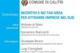 """Calitri (Av) – Convegno """"Incentivi e no-tax area per attrarre imprese nel Sud"""""""