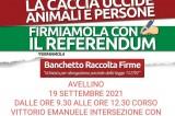 """Avellino – Raccolta firme per """"Sì Aboliamo la Caccia"""""""