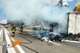Incendio sulla Napoli – Canosa, un autoarticolato in fiamme