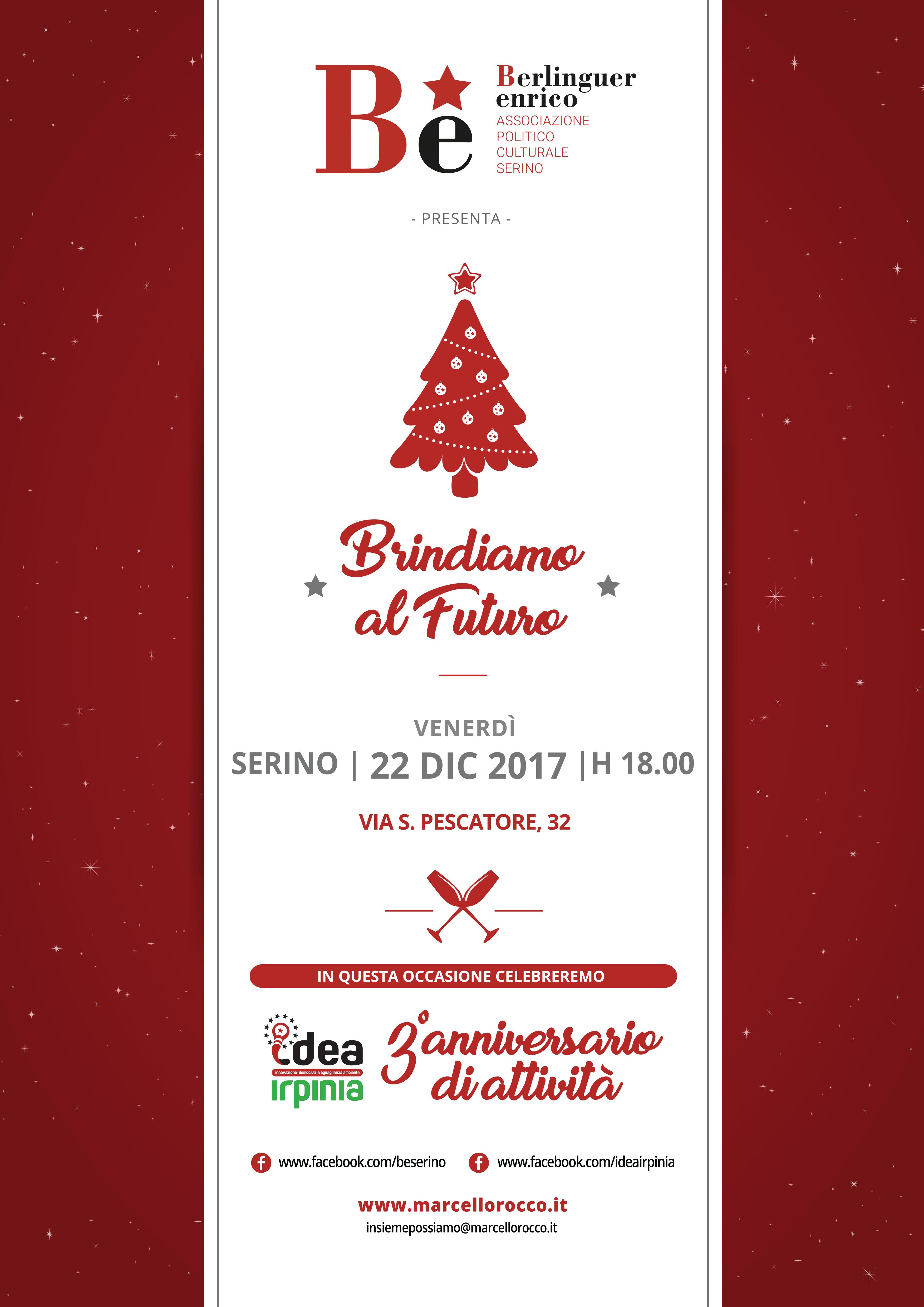 Locandina JPEG Brindiamo al Futuro 22 Dic 2017 - Associaizoni Be IDEA Irpinia