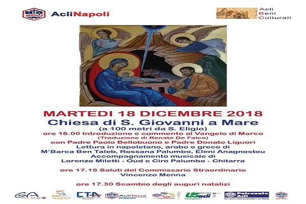 Auguri Di Natale Napoletano.Acli Di Napoli Scambio Di Auguri Tra Preghiere Di Natale In