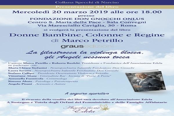 Un inno dedicato alle donne: l'autore Marco Petrillo ospite alla Fondazione Don Gnocchi Onlus(RM)
