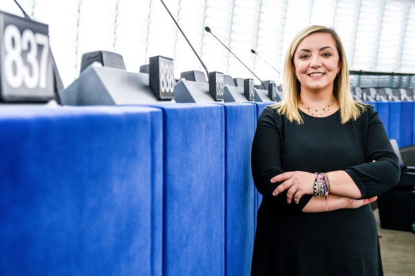 Isabella ADINOLFI in the EP in Strasbourg