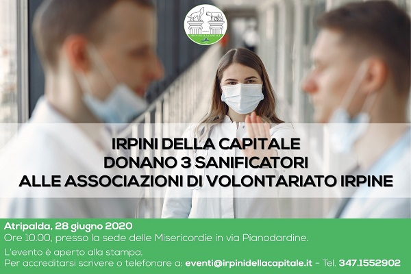 Locandina Irpini Capitale - sanificatori