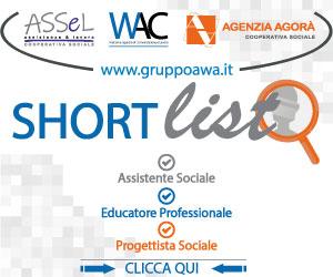 banner GRUPPO AWA ricerca personale assist e prog soc educ